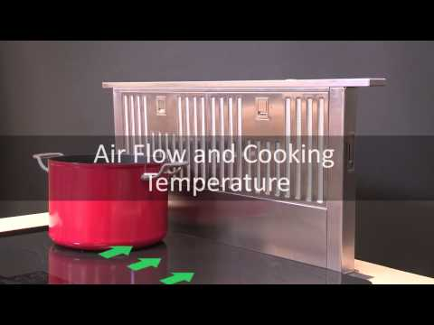 Downdraft Venthood Airflow and Cooking Temperature
