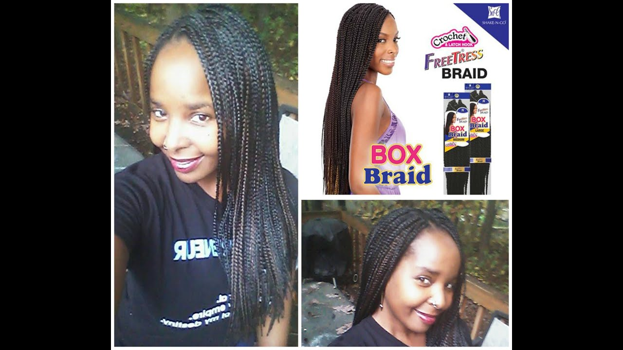 FreeTress Small Box Braid Review and How to - YouTube