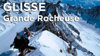 Première descente du Pilier Sud de la Grande Rocheuse ski snowboard Chamonix Mont-Blanc - 11163