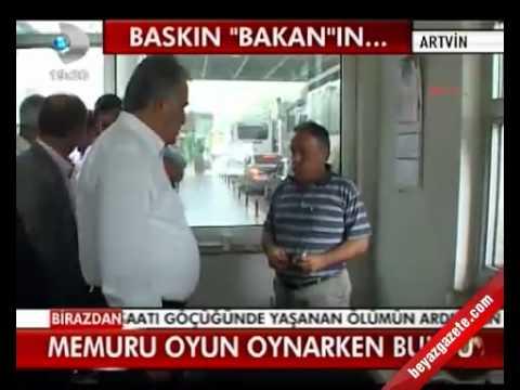 Bakan Hayati Yazıcı memuru Oyun Oynarken Buldu (www.beyazgazete.com)