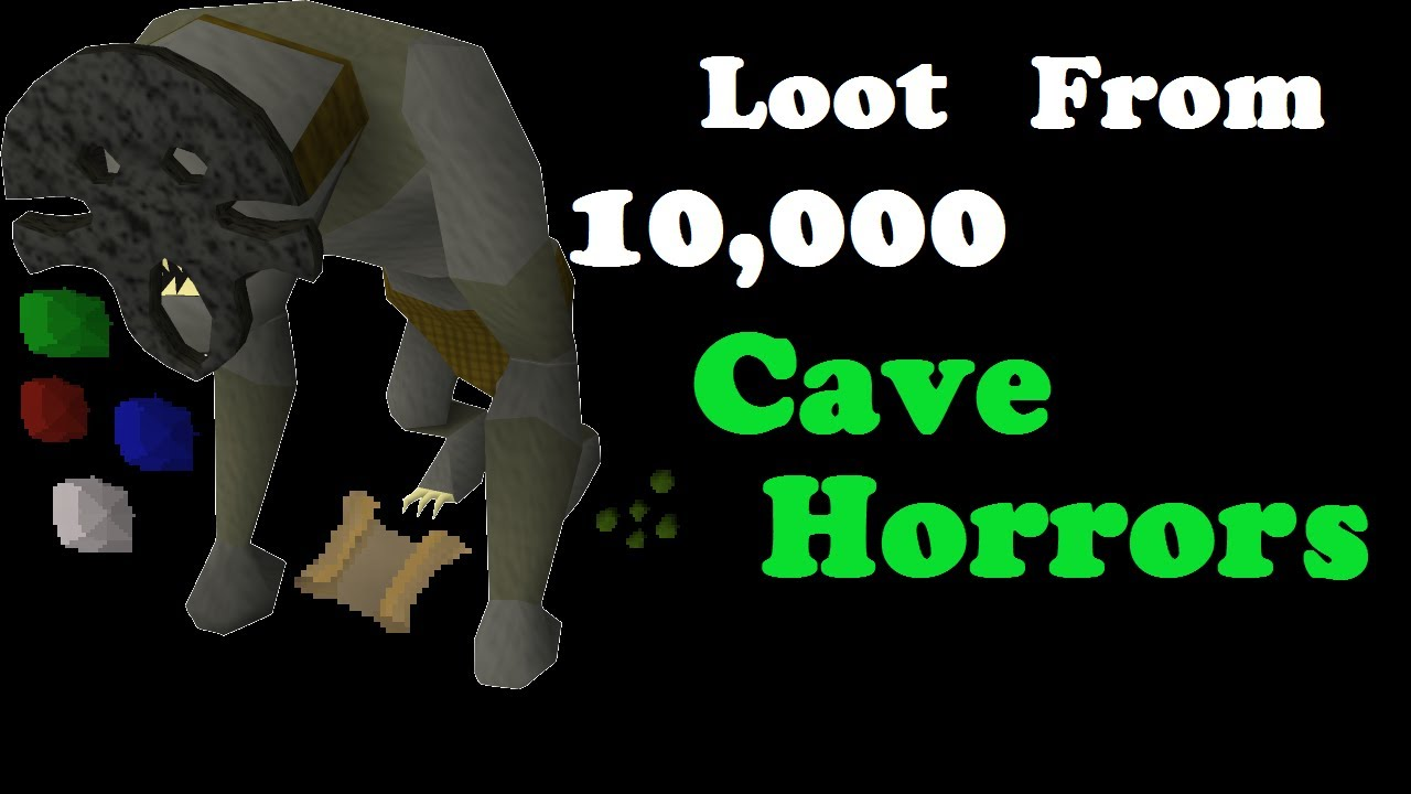 Loot from 10000 Cave Horrors 2007 Runescape Old School - YouTube