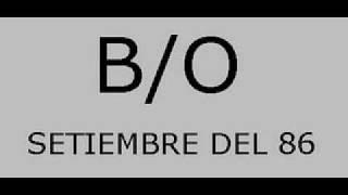 B/O SETIEMBRE DEL 86