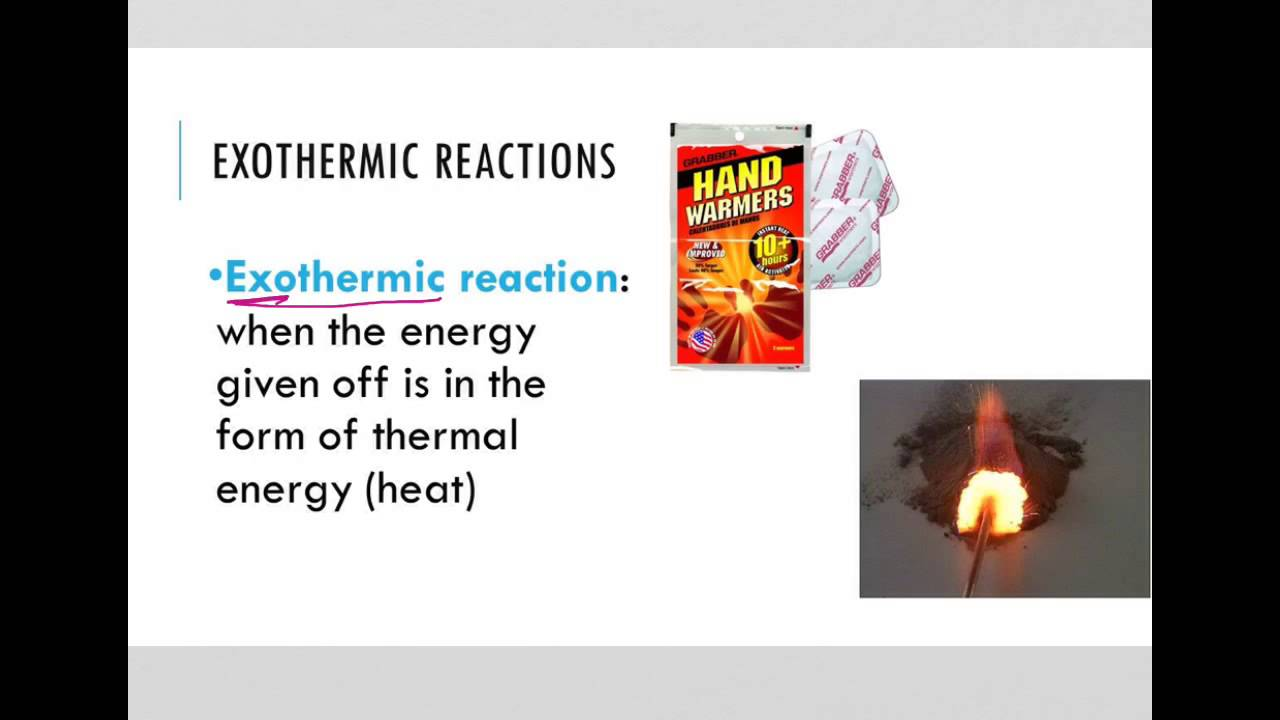 Exergonic And Endergonic Reactions Youtube