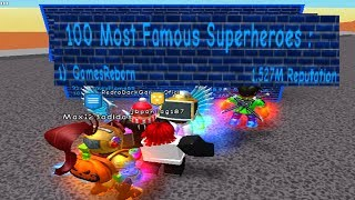 Becoming The #1 Top Most Famous Superhero! - Super Power Training Simulator (ROBLOX)