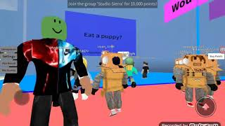 Rosy plays would you rather in Roblox