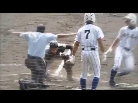 2015 夏 高校野球 健大x寒川 ダブルスチールでホームを盗む宮本の妙技