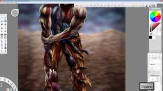 Goku vs Frieza Speed Painting