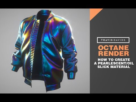 Cinema 4D, Octane Render - How To Create A Pearlescent or Oil Slick