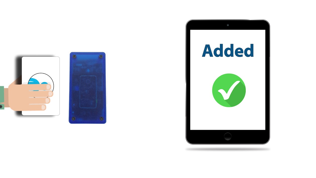 Add or Update Employee ID Cards on iPad-iOS for RFID-NFC Attendance