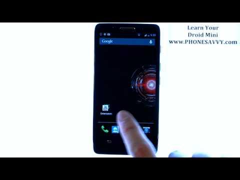 Motorola Droid Mini - How Do I Customize Home Screens and Create Folders