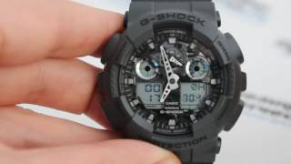 Casio G-SHOCK GA-100CF-8A - Як налаштувати годинник від Casio PresidentWatches.Ru