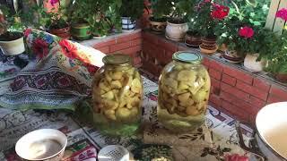 Компот из яблок на зиму ( просто , быстро и вкусно)