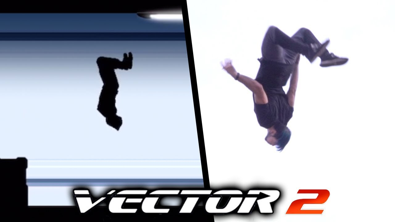 ALL THE TRICKS from Vector In Real Life (Vector 2 Parkour game)