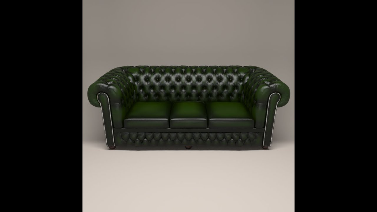 Chesterfield sofa 3d model TURNTABLE YouTube