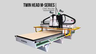 Twin Spindle M-Series CNC Router by C.R. Onsrud