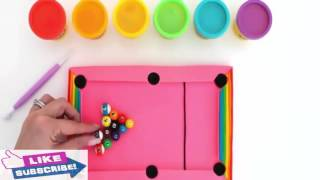 How to Make a Pink Pool Table - Play Dough Art - Fun Creative For Kids