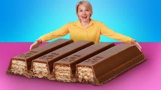 Thử Thách Đồ Ăn Khổng Lồ / Làm Thanh KitKat To Nhất Thế Giới