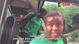 #FRANCE2019: Arrivée des Lionnes à Montpellier