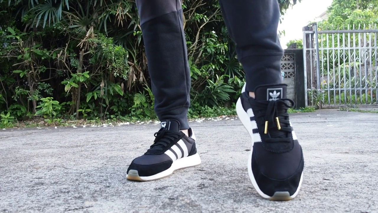 newest collection cf35a dd872 Adidas Iniki Runner Black-White on feet