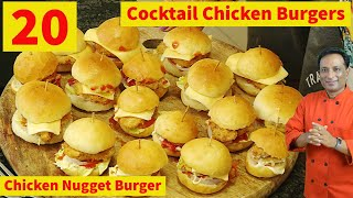 20 Chicken Burgers - Mini Chicken Burgers Eaten By Vahchef - B for Biwi or B - Burger King Vahchef