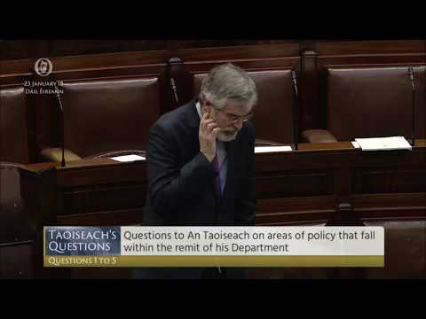 Gerry Adams questions Taoiseach about Scientology's planned Narconon centre in Ballivor