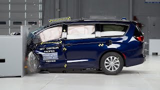 2017 Chrysler Pacifica small overlap IIHS crash test