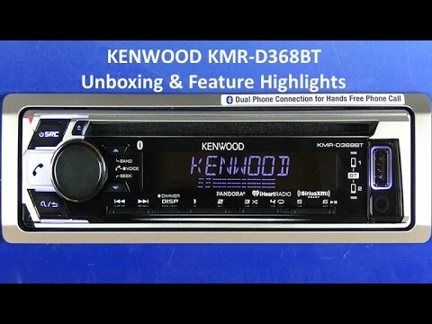 kenwood kmr-d368bt 2017 marine audio receiver unboxing & feature highlights