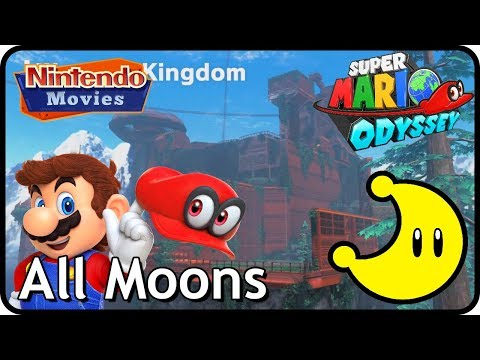 Super Mario Odyssey - Wooded Kingdom - All Moons (in order with timestamps)