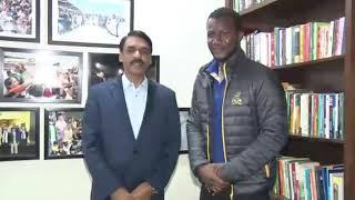 Cricketer Darren Sammy Met DG ISPR - 5 Feb 2019 (ISPR Official Video)