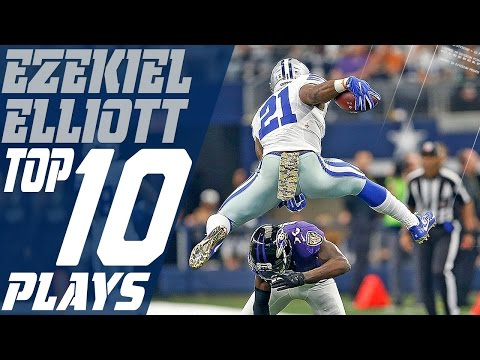 Ezekiel Elliott's Top 10 Plays of the 2016 Season | Dallas Cowboys | NFL Highlights