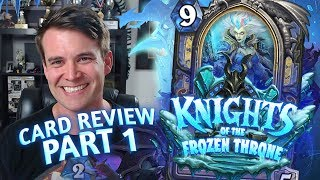 (Hearthstone) Knights of the Frozen Throne: Card Review Part 1 - Druid, Hunter and Mage
