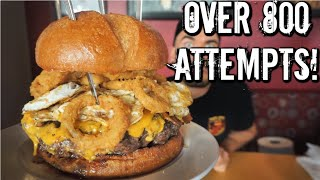 8LB Grim Reaper Burger Challenge in Atlanta, Georgia | Lucky's Burger and Brew | Man Vs Food