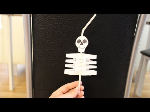 Diy Halloween Special Strohhalm Skelett Basteln Fur Kinder Youtube