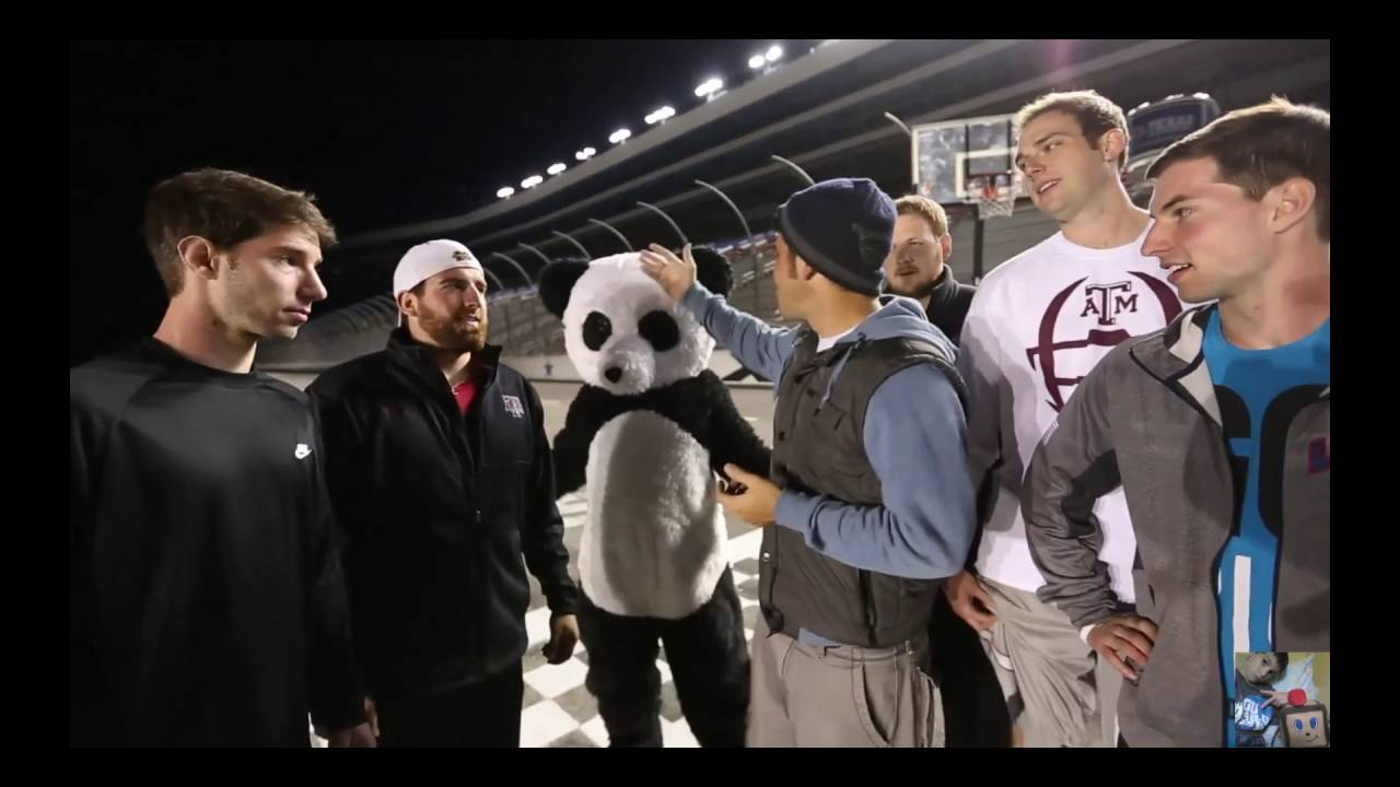 dude perfect who 39 s in the panda suit youtube. Black Bedroom Furniture Sets. Home Design Ideas