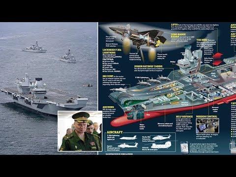 Big Lizzie: 'IT'S A SITTING DUCK!' Russia mocks Britain's new warship