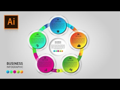 Illustrator Tutorial: Circular Business Infographics template free