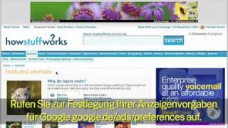 Datenschutz bei Google: Interessenbezogene Werbung