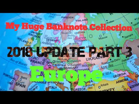 2018 World Paper Money Collection Update - Europe. Part 3 Of 6