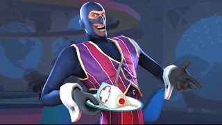 We Are Number One but replaced with TF2 Spies and every keyword is either replaced or snorted out