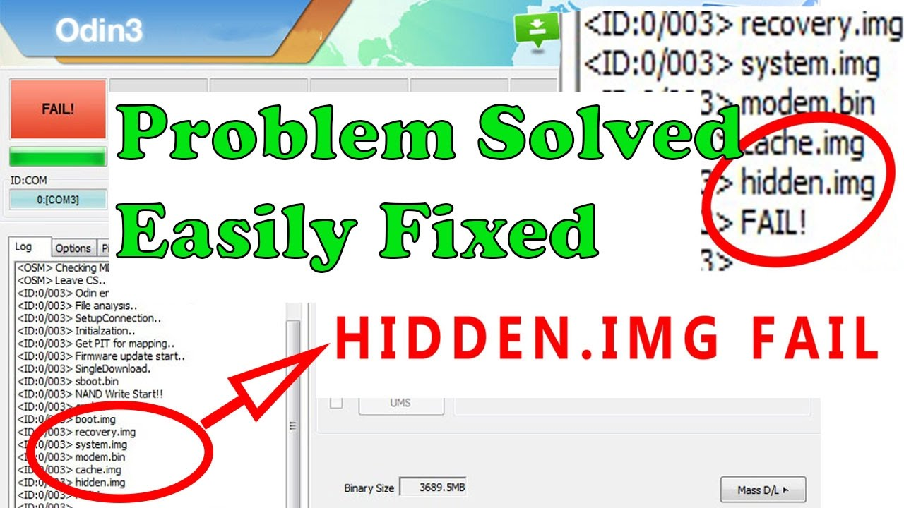 [Error Solved] How to fix odin at hidden img ext4 fail! (size) is too big -  Jan 2018