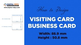 Visiting card design in Photoshop - Business Card Tutorial