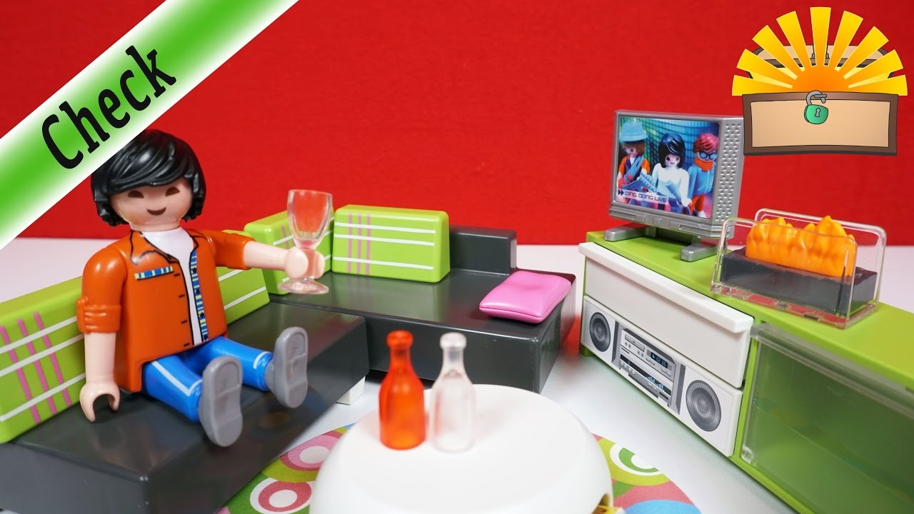 LUXUS WOHNZIMMER Fur LUXUSVILLA Playmobil 5584 City Life Deutsch