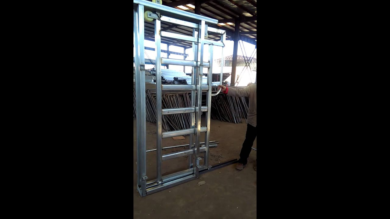 Cattle Panel Sliding Gate - XiangMing - YouTube | 607 x 1080 jpeg 79kB