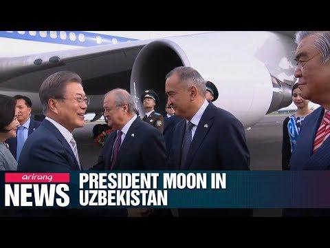 President Moon begins four-day state visit to Uzbekistan; scheduled to address parliament