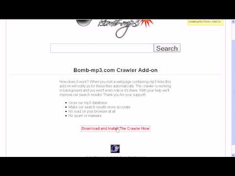bomb-mp3.com - How To: install mp3 crawler Firefox Add-on