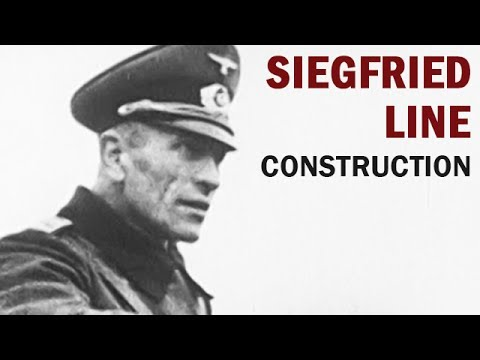 Construction of the Siegfried Line, Germany's Last Line of Defense | Captured German WW2 Film | 1939