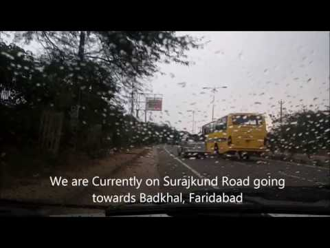 WINTER's CALL   Delhi to Faridabad via Surajkund (Aravali Hills)   Heavy Rains   WagonR