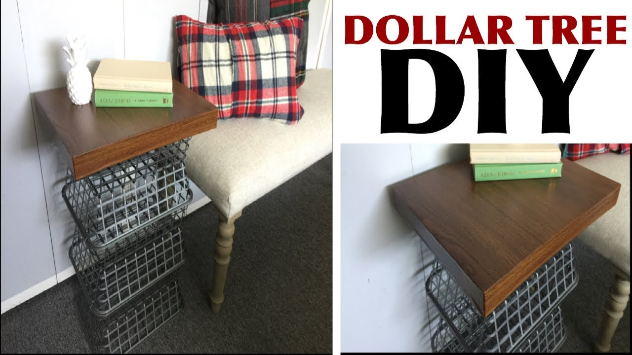 Dollar Tree Diy Side Table Country Style Youtube