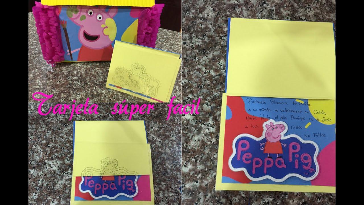 Como Hacer Una Invitación Fácil Peppa Pig