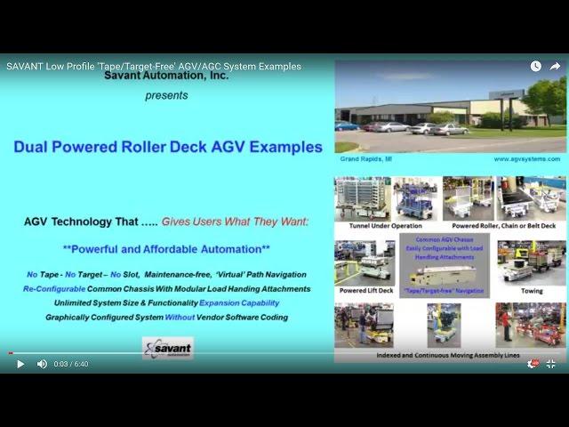 SAVANT AGV/AGC Dual Load Deck Configurations